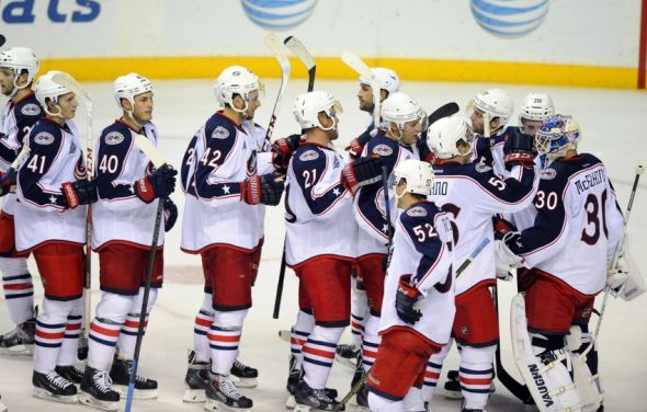 What is going on with the Columbus Blue Jackets Twitter account?