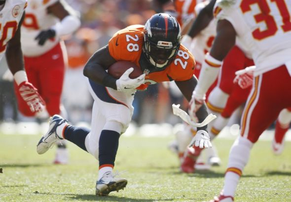 Broncos Montee Ball To Miss 3 4 Weeks With Groin Detachment