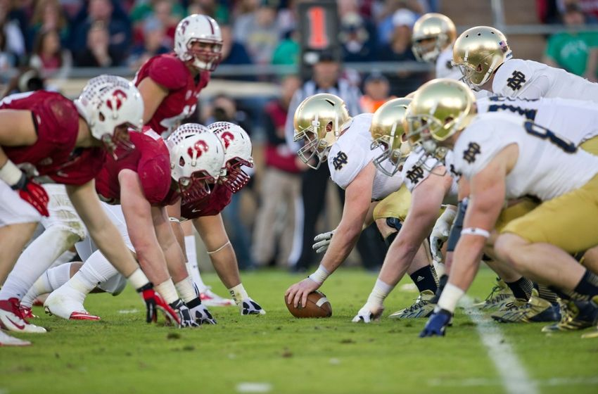 notre dame vs stanford score college football top 25