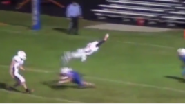 Indiana High School Quarterback Front Flips Over Defender Into End Zone (Video)