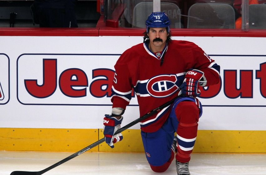 George Parros Mustache Tough-guy George Parros