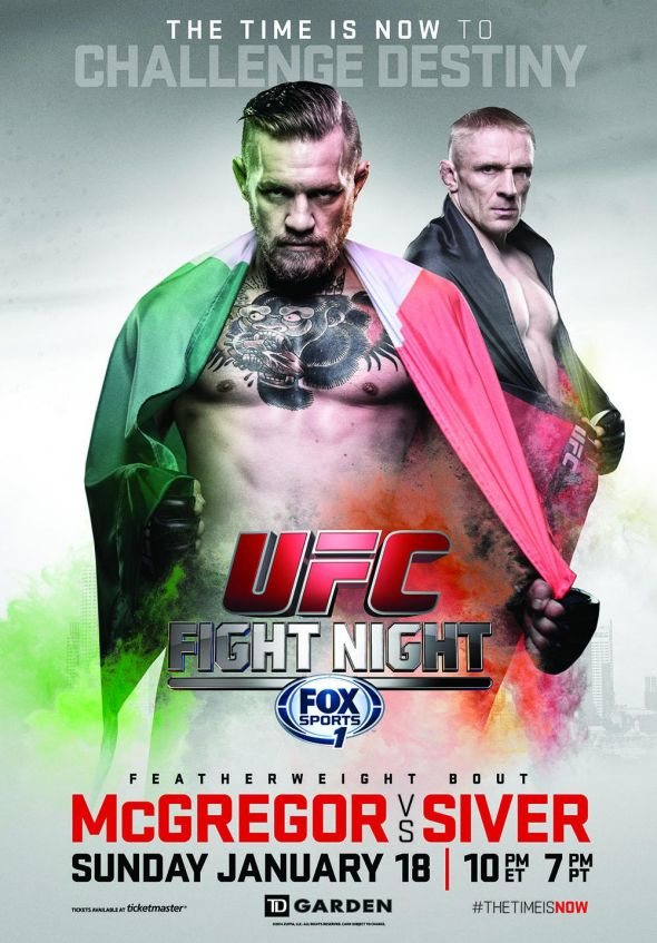 Conor Mcgregor Vs Denis Siver Ufc Poster Revealed