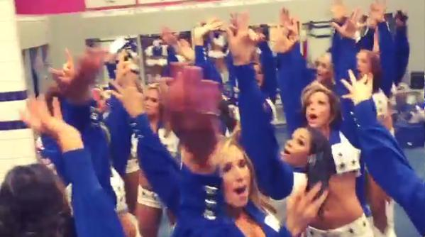 Dallas Cowboys Cheerleaders Party In Locker Room After Win