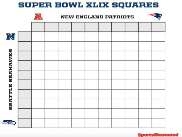 2015 Super Bowl Squares | New Calendar Template Site