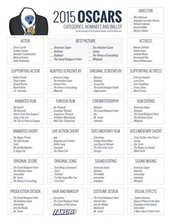 "Search Results for ""Oscar Ballot 2015 Printable Moviefone ..."