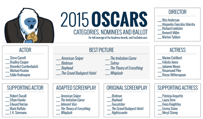 Online Oscar Ballot 2015 Printable together with Polar Express Ticket Printable further One Page Oscar Ballot 2015 besides Academy Awards 2016 Ballot Printable furthermore Oscars 2017 Download Our Printable Movie Checklist PDF. on oscar nominations printable ballot 2017