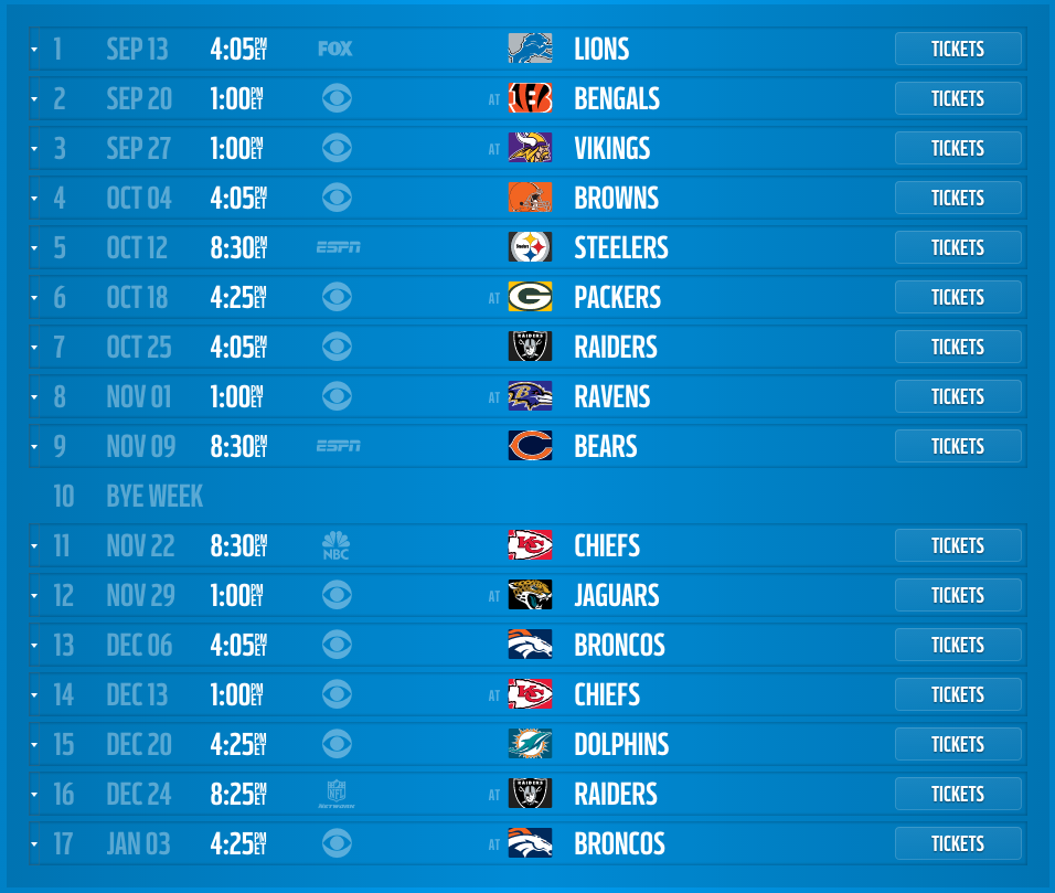 San Diego Chargers 2015 Schedule Released Dates And Times