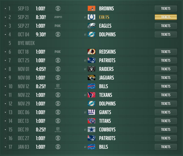 Philadelphia Eagles 2016 2017 Printable Schedule | 2017 - 2018 Best ...