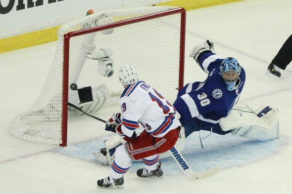 Jesper Fast Scores Breakaway Goal To Give Rangers 2 0 Lead In Game 3 Video