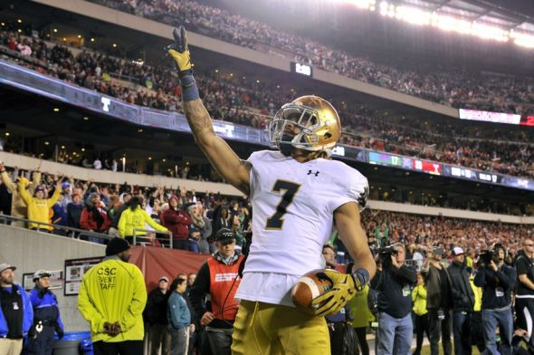 betting lines ncaa football notre dame game score live