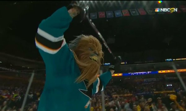 Brent Burns Scores While Dressed Like Chewbacca