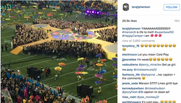Taraji P. Henson Praises Maroon 5's Super Bowl 50 Performance… Wait, What?
