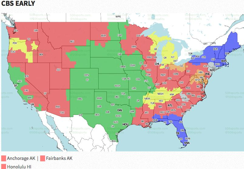NFL Week 2: Broadcast map | FOX Sports Map Of All Nfl Teams on map of nfl teams in usa, map of all disney, map of favorite nfl teams, map of all mls teams, us map nfl teams, central hockey league teams, us map of baseball teams, map nfl teams by fans, map of all cfl teams, map of nfl stadiums, map of all colleges, map of all mlb, map of all saints, map of all football players, map with nfl team division, map of the nfl, map of all animals, map of nfl teams poster, map of all new england, map of nfl cities,