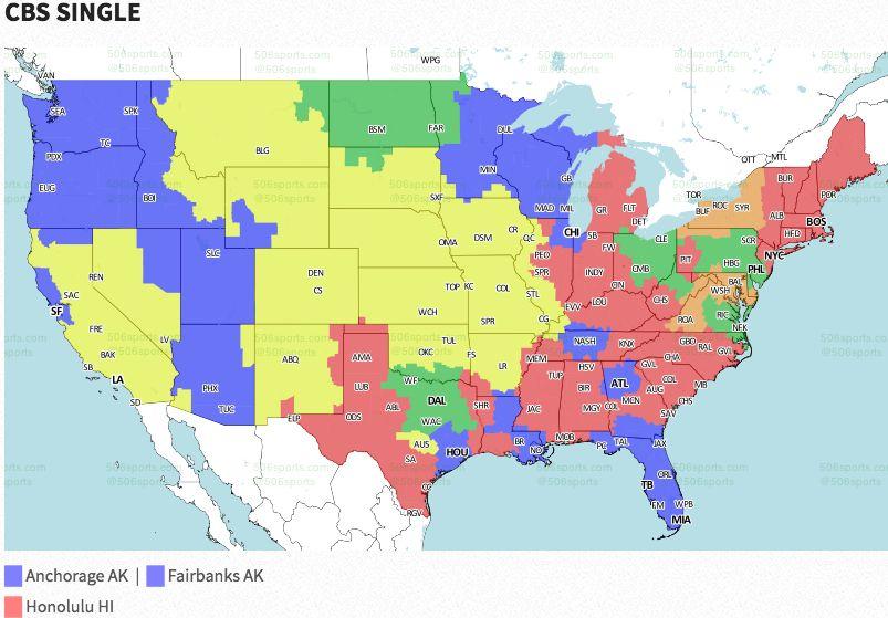 NFL Week 1: Broadcast map   FOX Sports