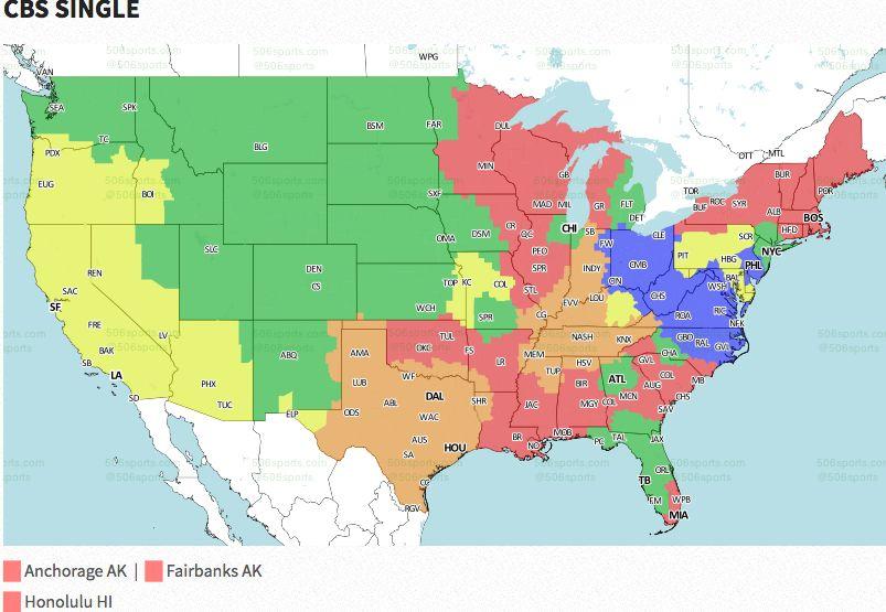 NFL Week 4: Broadcast map   FOX Sports