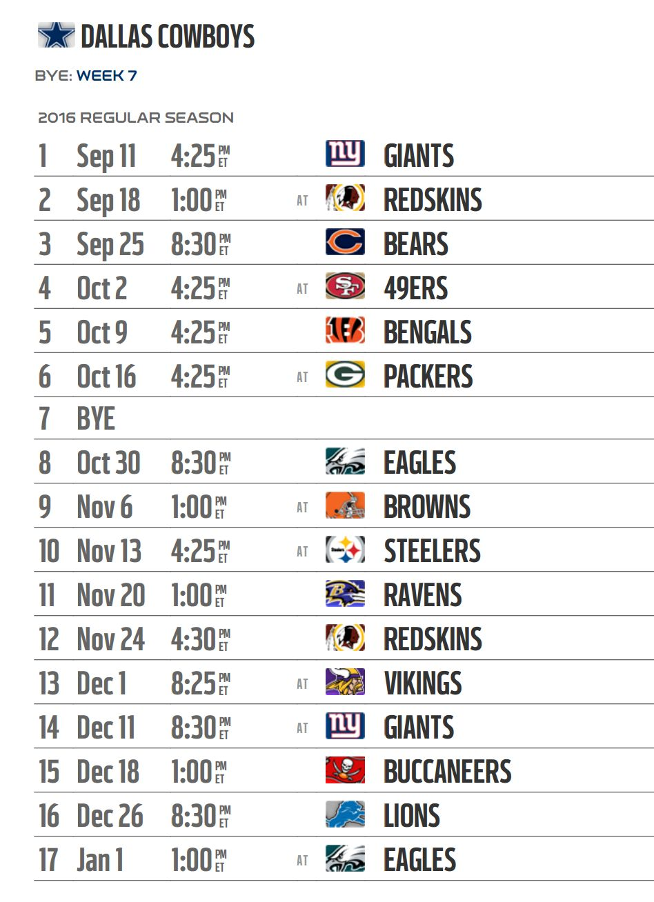For more coverage of the NFL schedule release, check out the NFL hub ...