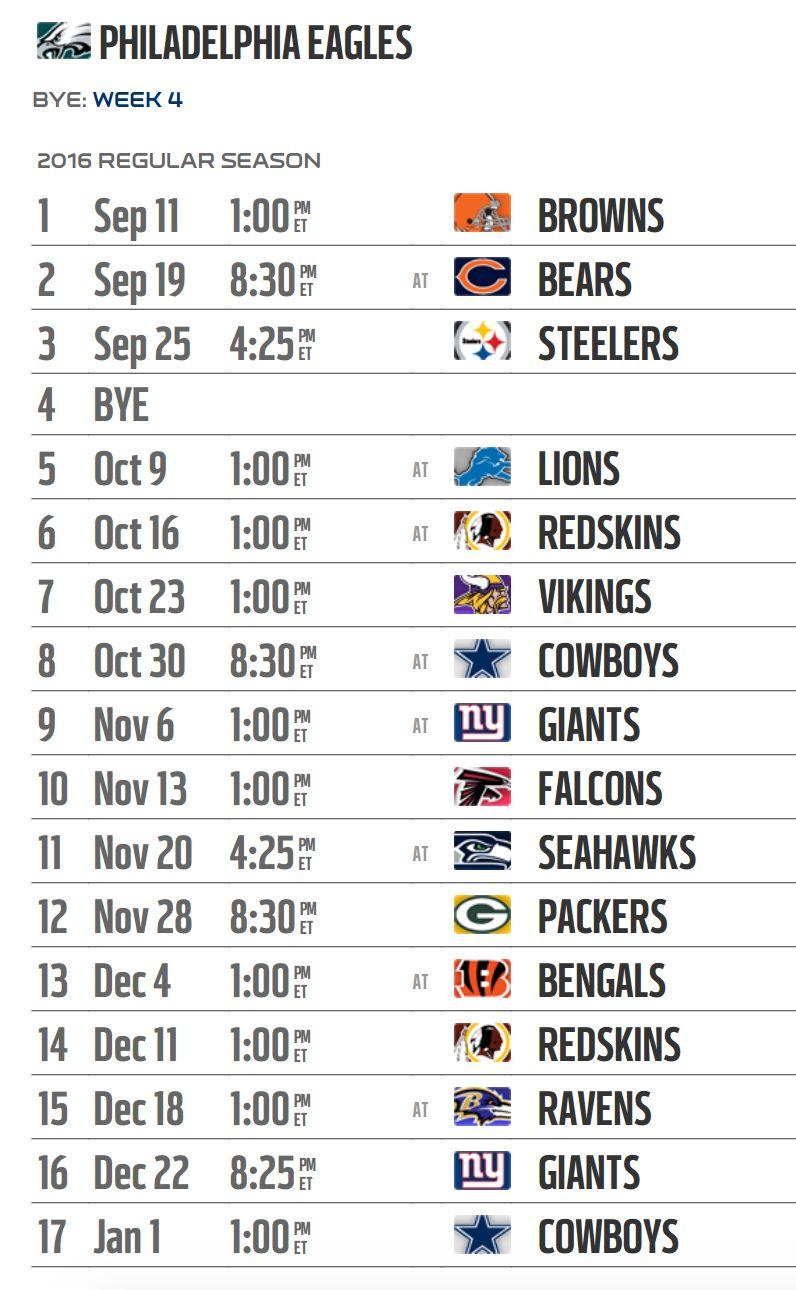 nfl gameday picks eagles nfl schedule