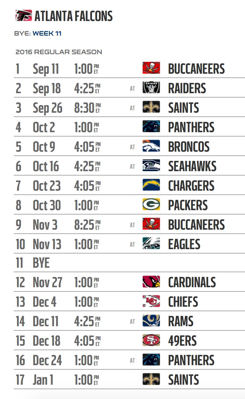 2015-2017 atlanta falcons schedule & the best atlanta hawk's fan