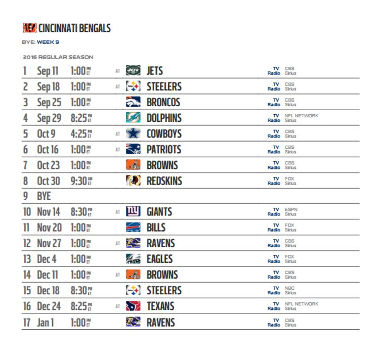bengals steelers line playoff schedule nfl