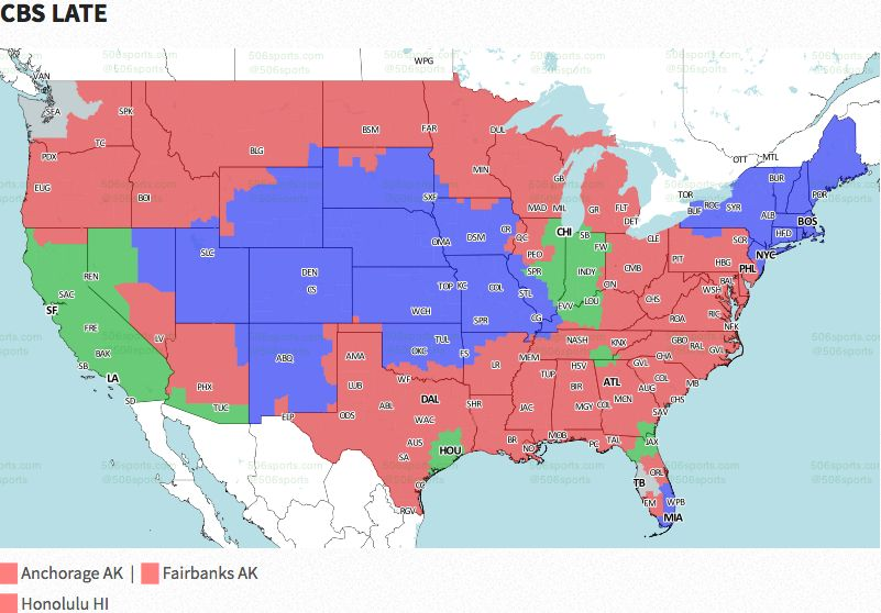 Nfl Week 3 Broadcast Map