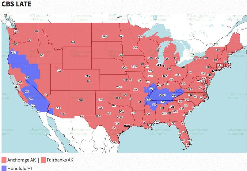 Nfl Coverage Map 2016 Tv Schedule Week 9