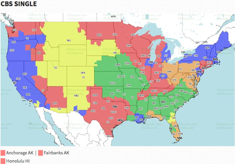 NFL coverage map 2016: TV schedule Week 13 | FOX Sports on