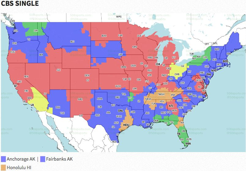 Nfl Coverage Map 2016 Tv Schedule Week 16