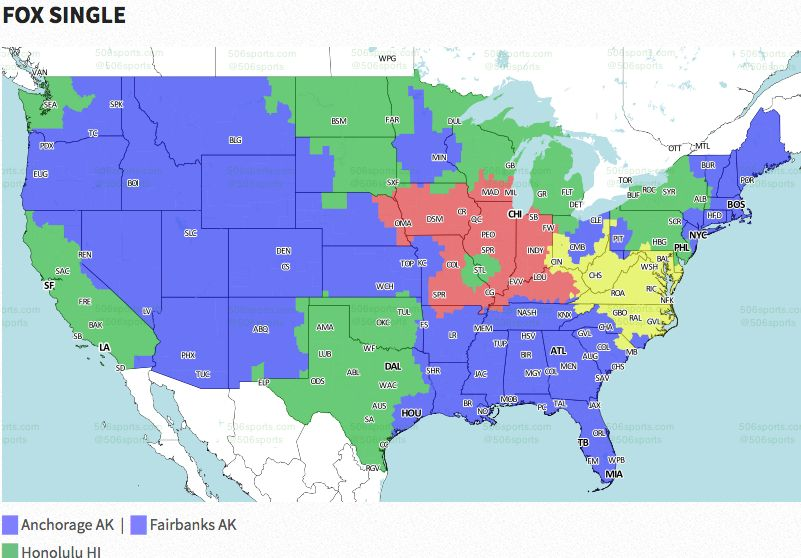 Nfl Coverage Map 2016 Tv Schedule Week 5