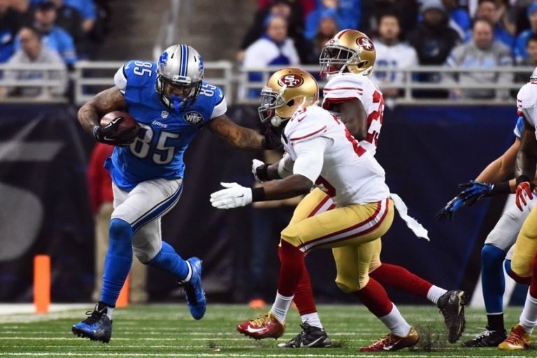 Eric Ebron Lions Fear Achilles Injury For Te