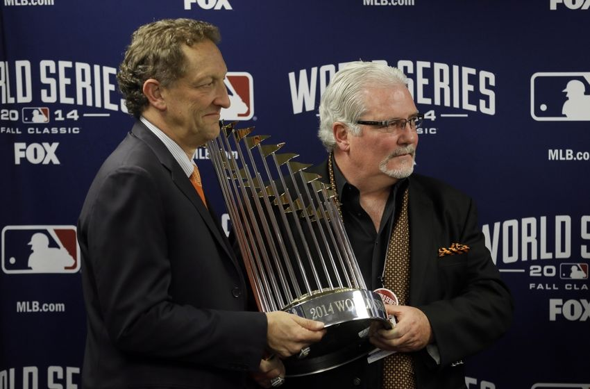 Oct 29, 2014; Kansas City, MO, USA; San Francisco Giants general ...