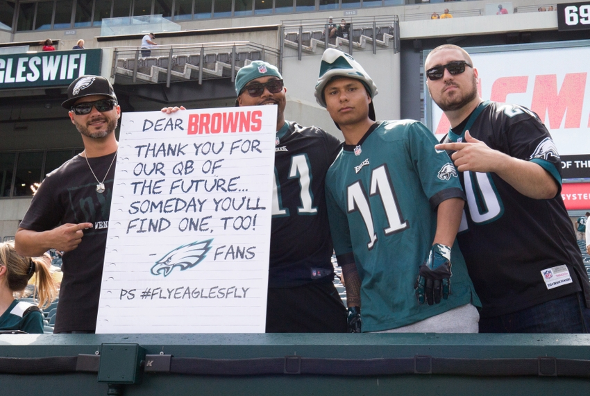 Cleveland Browns Fans Epically Misspell Dawg Pound Photo