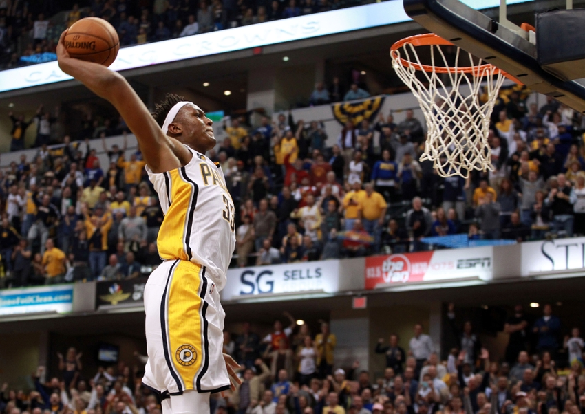 Indiana Pacers center Myles Turner (33) is in my FanDuel dialed picks lineup for the day. Mandatory Credit: Brian Spurlock-USA TODAY Sports