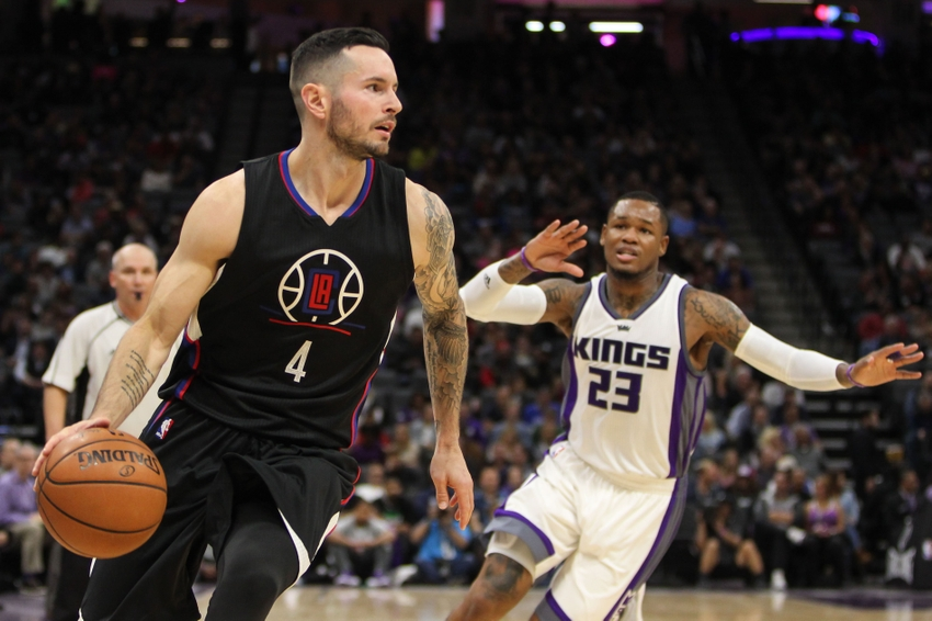 Oct 18, 2016; Sacramento, CA, USA; Los Angeles Clippers guard JJ Redick (4) during the second quarter against the Sacramento Kings at Golden 1 Center. Mandatory Credit: Sergio Estrada-USA TODAY Sports