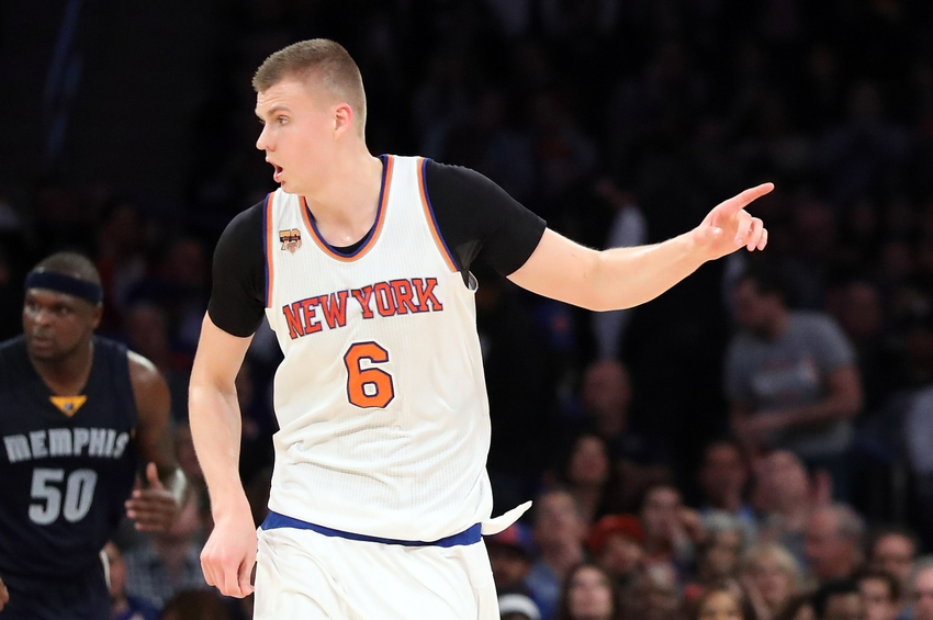 New York Knicks forward Kristaps Porzingis (6) is in my DraftKings Daily picks for today. Mandatory Credit: Anthony Gruppuso-USA TODAY Sports
