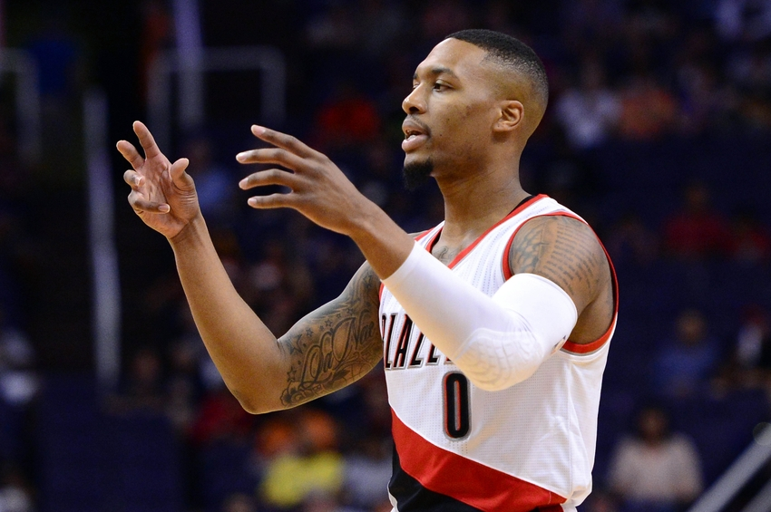 Portland Trail Blazers guard Damian Lillard (0) makes my DraftKings daily picks again today. Mandatory Credit: Jennifer Stewart-USA TODAY Sports