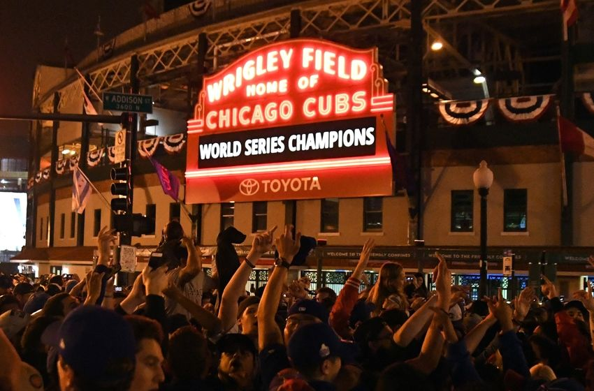 "Image result for ""wrigley field"" AND ""Chicago Cubs"" AND ""world series champions"""