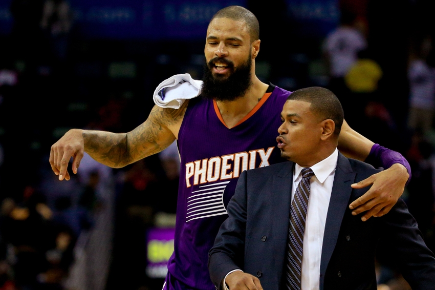 Phoenix Suns center Tyson Chandler (4) is one of my FanDuel daily picks for today. Mandatory Credit: Derick E. Hingle-USA TODAY Sports