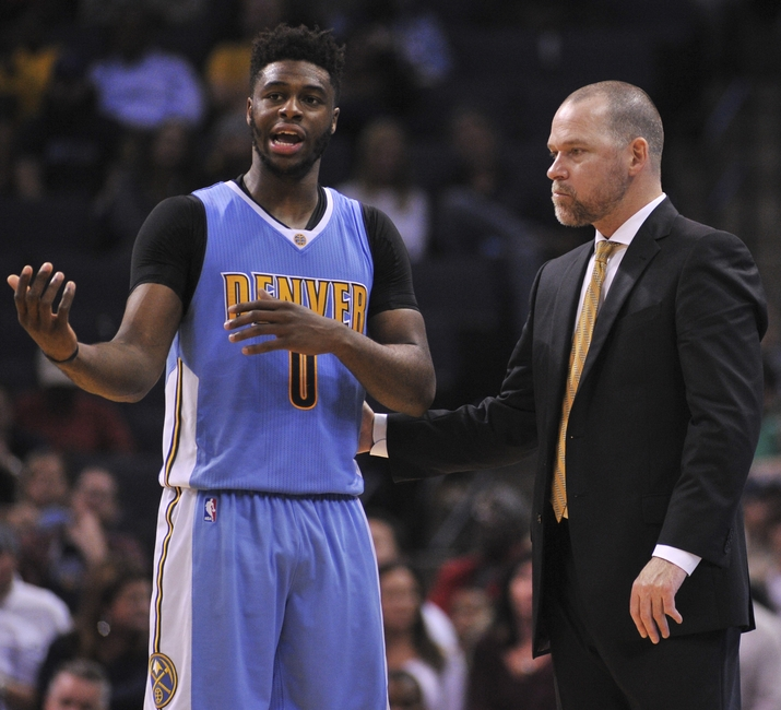 Denver Nuggets guard Emmanuel Mudiay (0) is my PG tonight in my DraftKings daily picks. Mandatory Credit: Justin Ford-USA TODAY Sports