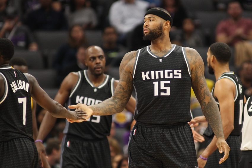 Sacramento Kings center DeMarcus Cousins (15) is in today's FanDuel daily picks. Mandatory Credit: Sergio Estrada-USA TODAY Sports