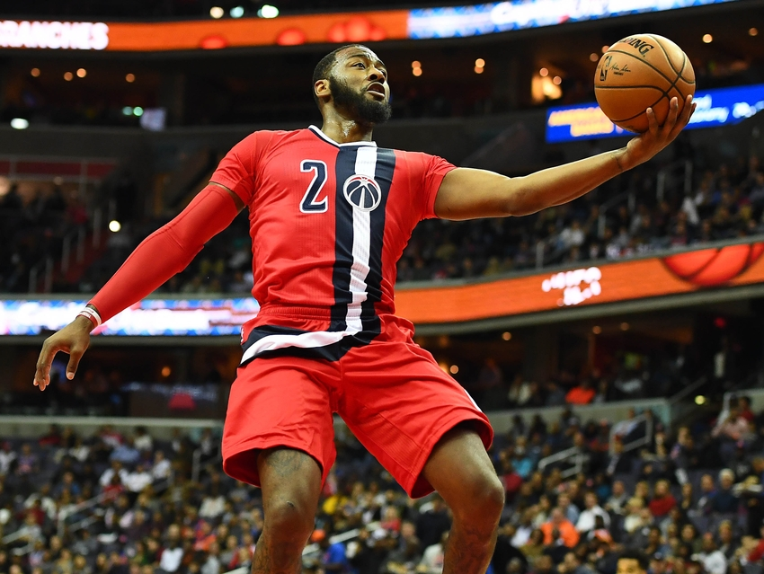 Washington Wizards guard John Wall (2) anchors my FanDuel daily picks lineup for tonight. Mandatory Credit: Brad Mills-USA TODAY Sports