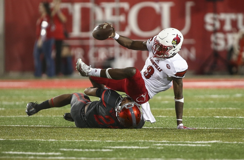 Lamar Jackson shut down as Houston routs Louisville