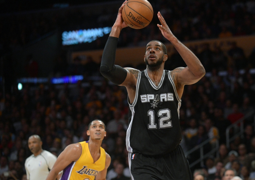 San Antonio Spurs forward LaMarcus Aldridge (12) is in my DraftKings daily picks for today. Mandatory Credit: Gary A. Vasquez-USA TODAY Sports