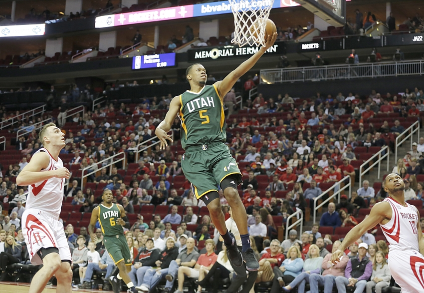 Utah Jazz guard Rodney Hood (5) is in my DraftKings daily picks lineup for tonight. Mandatory Credit: Thomas B. Shea-USA TODAY Sports