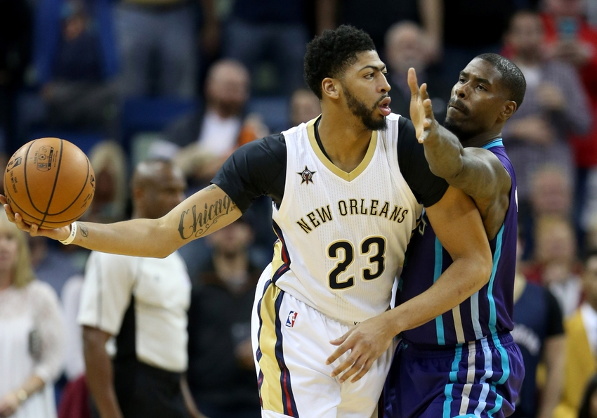 New Orleans Pelicans forward Anthony Davis (23) is definitely an option to consider in today's DraftKings daily picks. Mandatory Credit: Chuck Cook-USA TODAY Sports