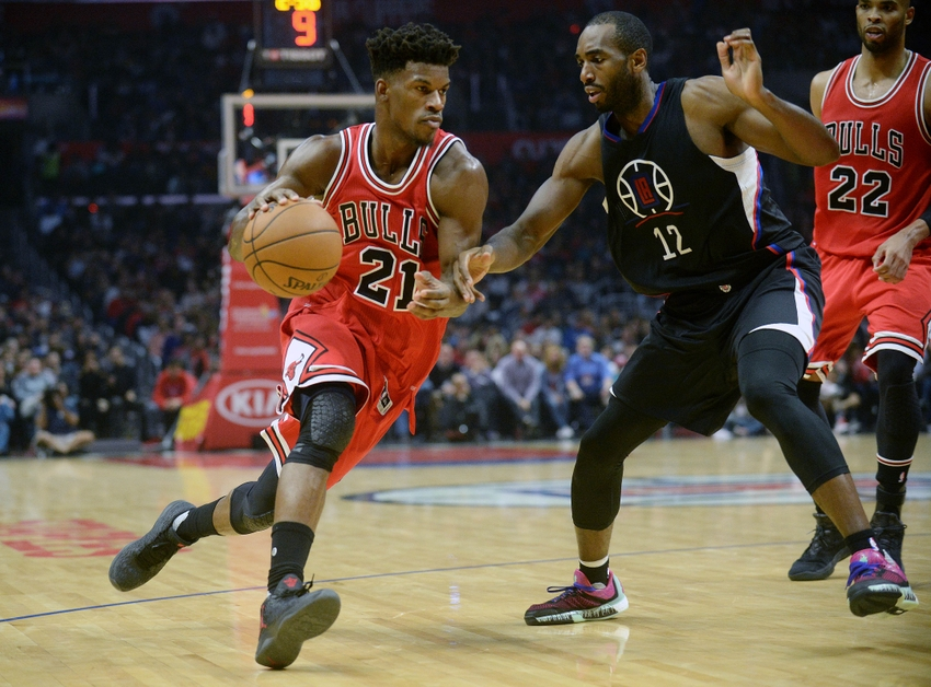 Chicago Bulls forward Jimmy Butler (21) is in my DraftKings daily picks for tonight. Mandatory Credit: Gary A. Vasquez-USA TODAY Sports