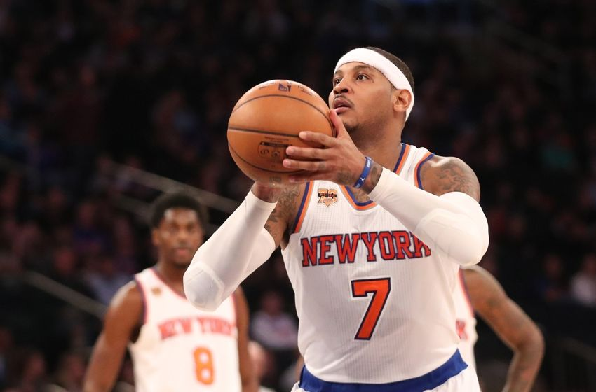 New York Knicks forward Carmelo Anthony (7) is in my DraftKings daily picks. Mandatory Credit: Anthony Gruppuso-USA TODAY Sports