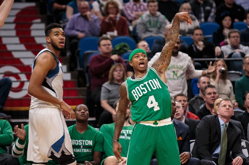 Boston Celtics guard Isaiah Thomas (4) is a good option in these DraftKings daily picks for today. Mandatory Credit: Brad Rempel-USA TODAY Sports