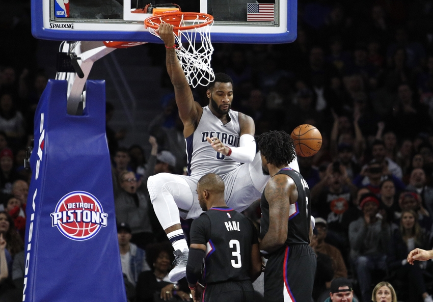 Detroit Pistons center Andre Drummond (0) is in my FanDuel daily picks tonight. Mandatory Credit: Raj Mehta-USA TODAY Sports