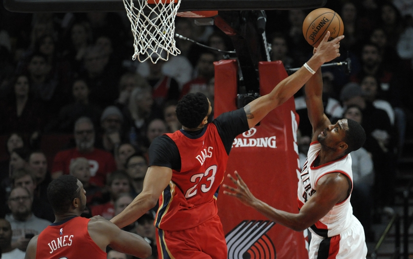 Both New Orleans Pelicans forward Anthony Davis (23) and Portland Trail Blazers forward Maurice Harkless (4) are in my FanDuel daily picks for this Sunday. Mandatory Credit: Steve Dykes-USA TODAY Sports