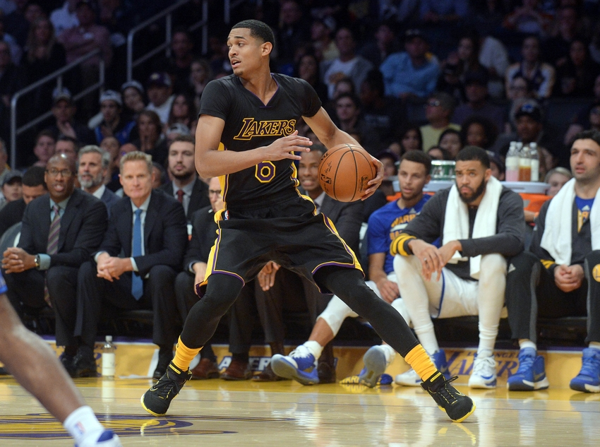 Los Angeles Lakers guard Jordan Clarkson (6) is in my DraftKings daily picks for today. Mandatory Credit: Gary A. Vasquez-USA TODAY Sports